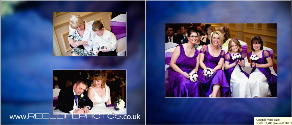 signing the register storybook wedding photography at Wentbridge House Hotel