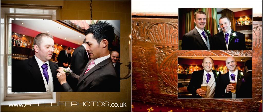 getting ready wedding photos at Wentbridge House Hotel