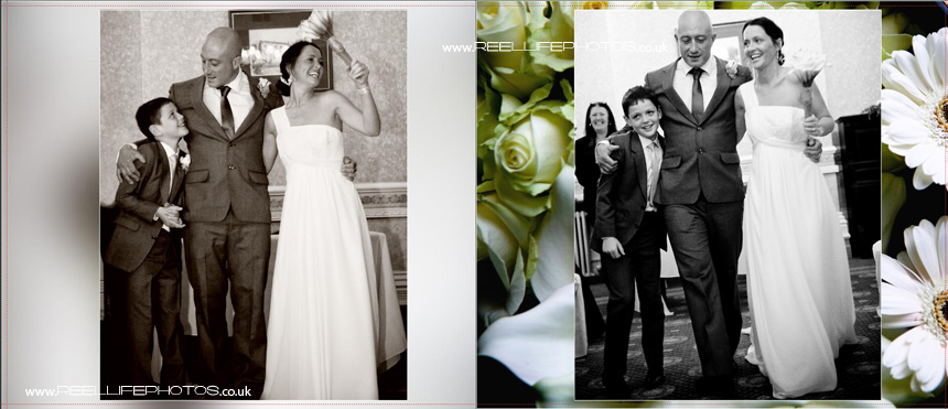 wedding photography in West Yorkshire with wedding ceremony at Blenheim House
