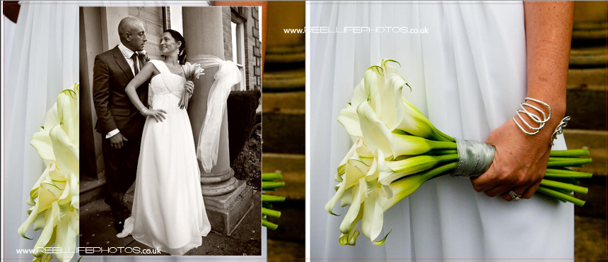 wedding storybook pictures with bride and groom