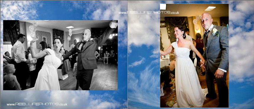 dancing at evening wedding reception in Batley