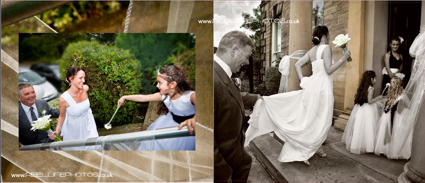 wedding storybooks by West Yorkshire wedding photographer