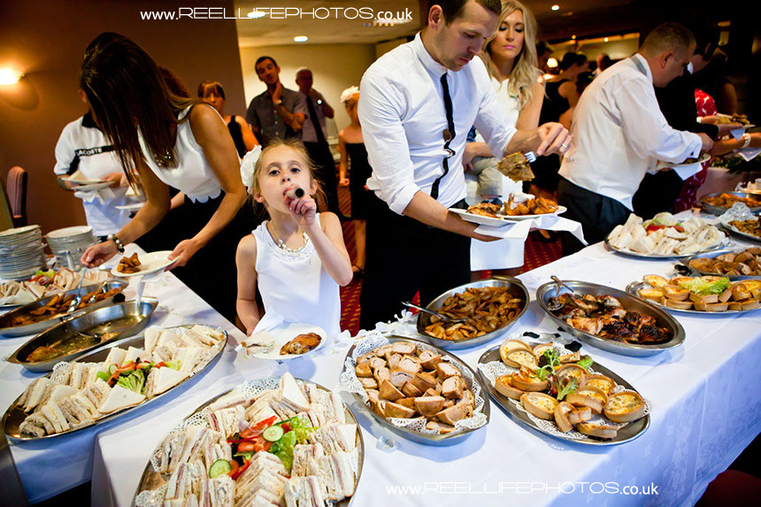 evening wedding reception fun pictures