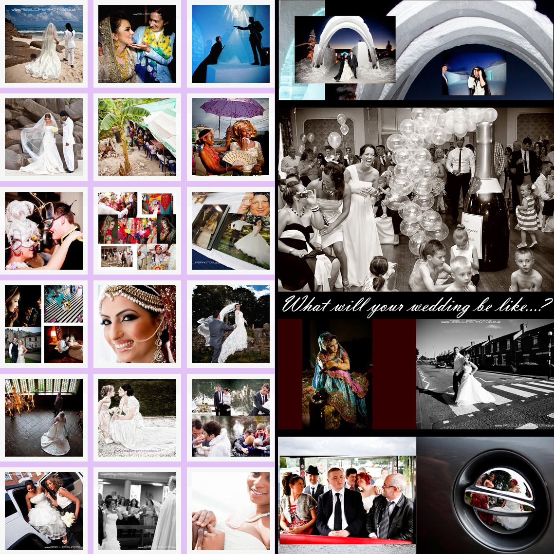 wedding pictures in a photo collage