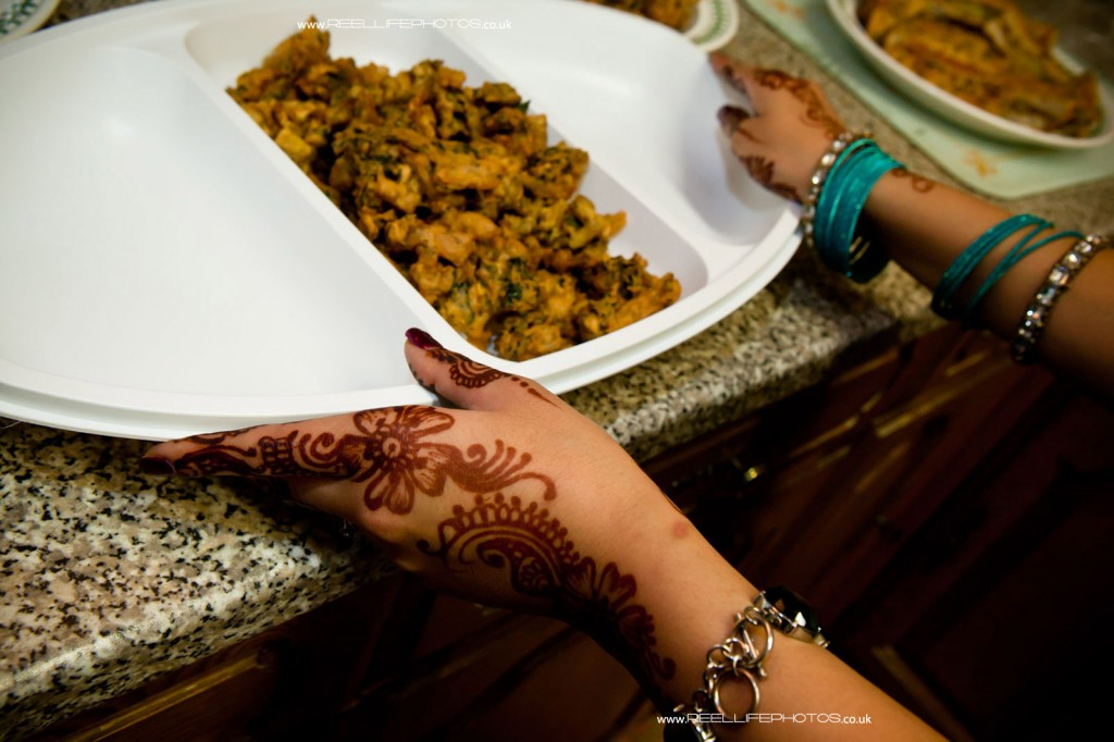 Hindu wedding snack before the Mayaan ceremony