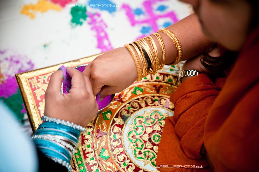 Hindu wedding art