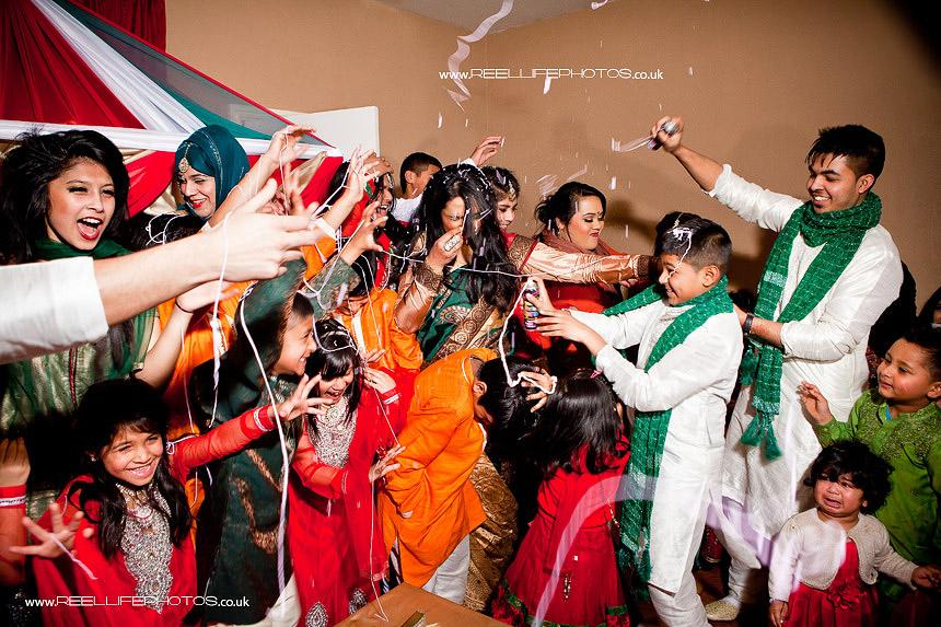 fun Asian wedding picture