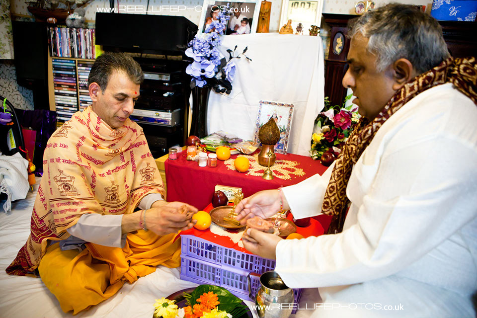 Hindu Sainth prayer ceremony