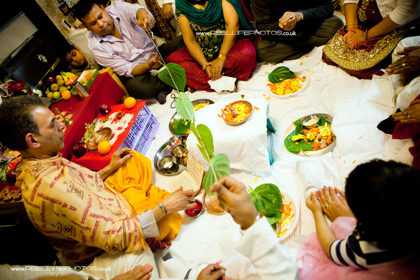 Hindu wedding Sainth prayer ceremony