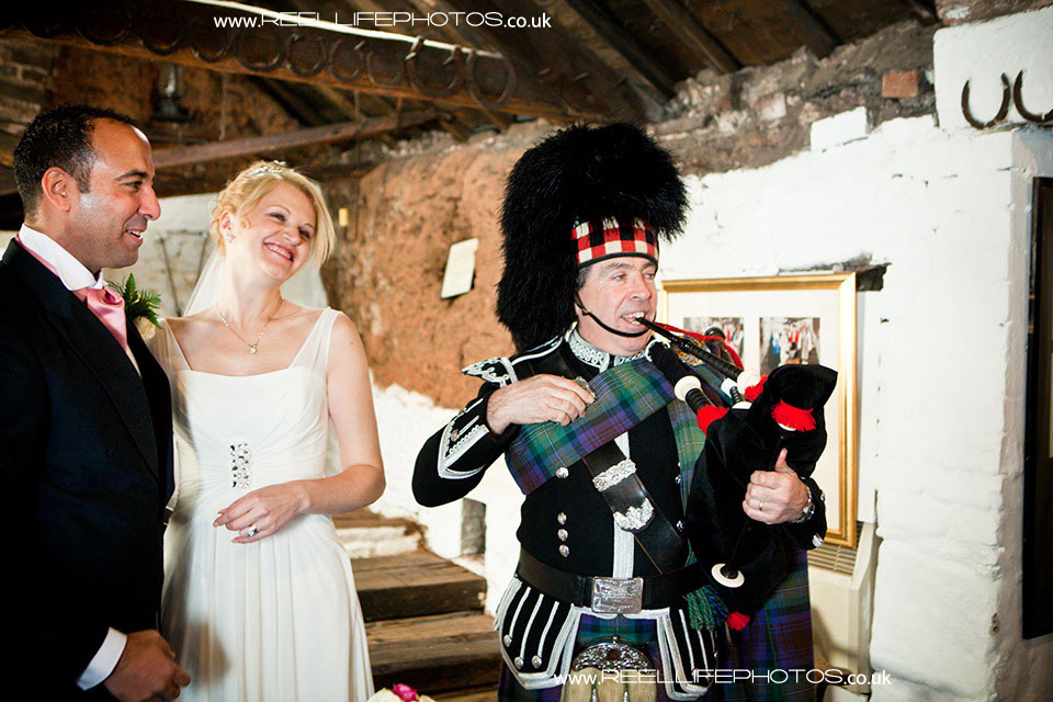 fun wedding at Gretna Green