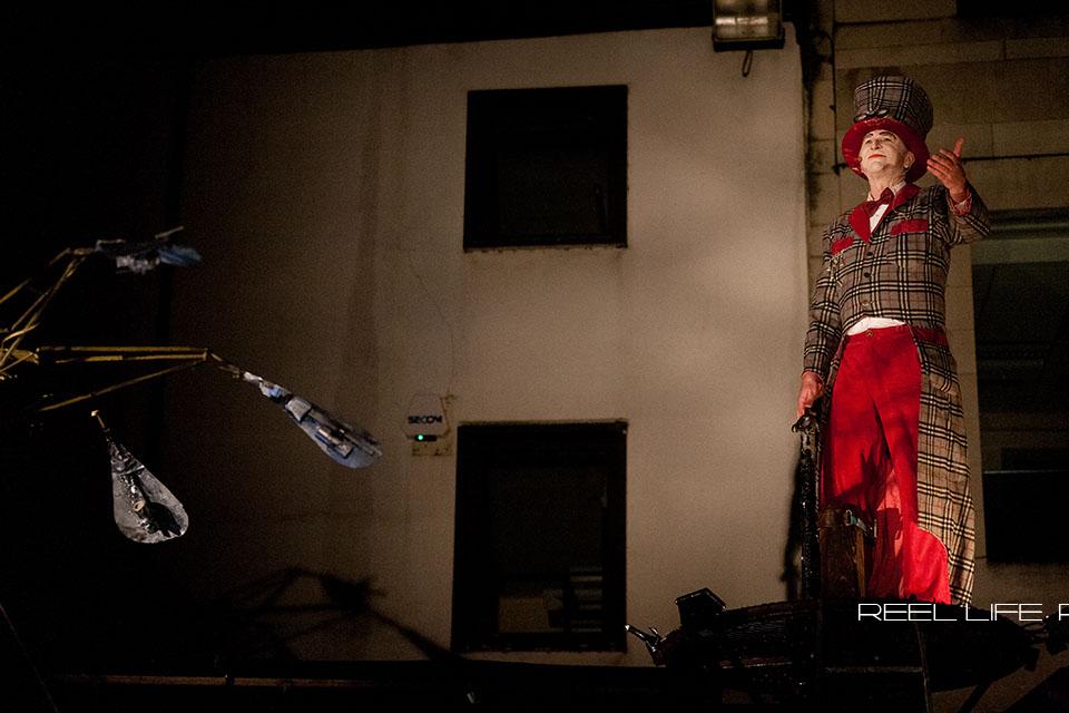 SPIRIT in Dewsbury 2013 - Titanick Theatre Street performance at night
