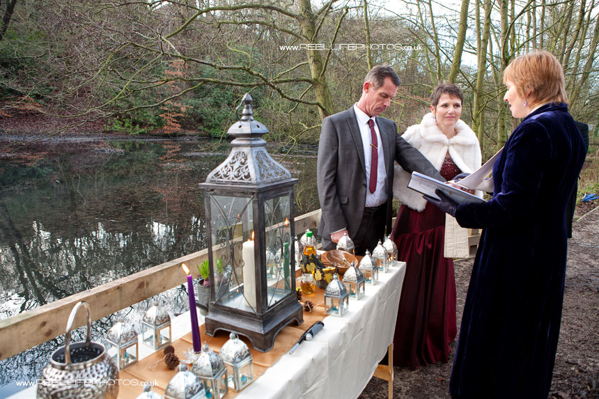Unusual wedding in Leeds Gledhow woods