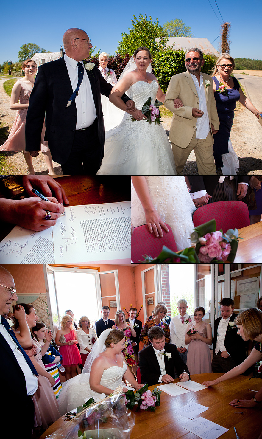 wedding ceremony in France