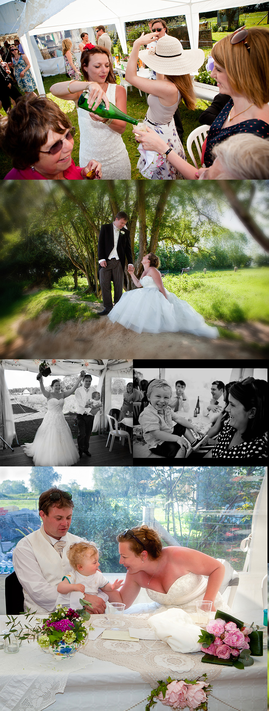 wedding storybook - montage - marquee wedding in France