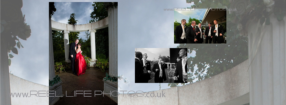 Black and white wedding photography as well as dramatic colour at Ponderosa