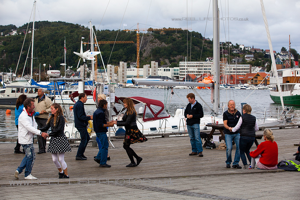 Swing dancing outdoors by the marina in Sandnes, Rogaland, Norway