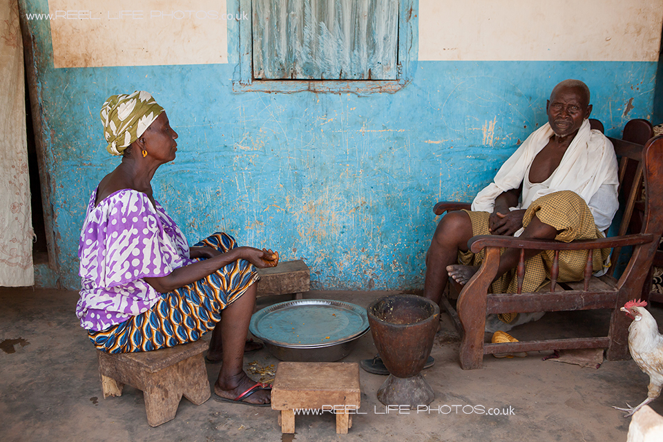 Gambian family life in the village of Jorem, The Gambia