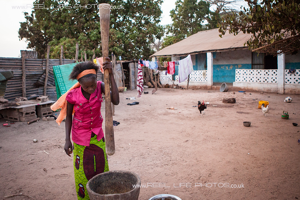 traditional crafts and food preparation in The Gambia