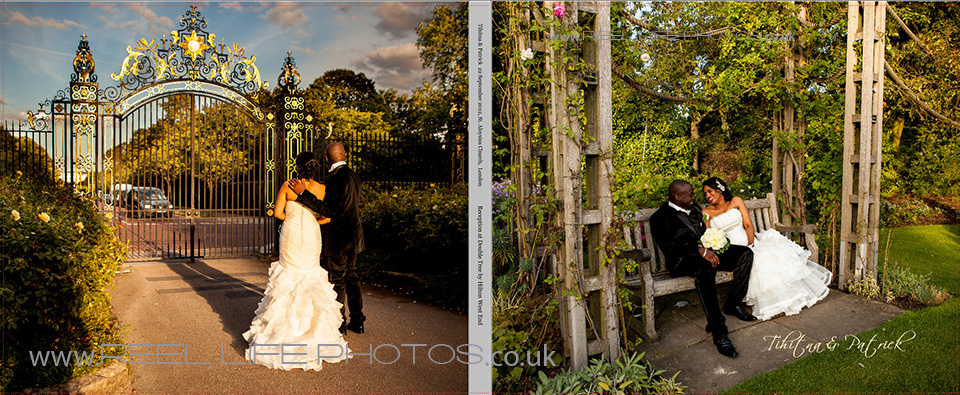 London wedding storybook album