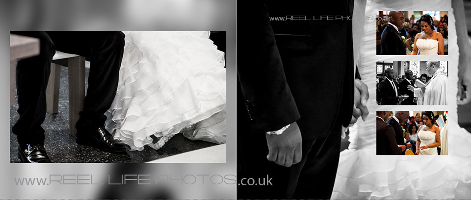stylish black and white wedding photography