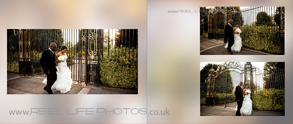 wedding pictures in Regents Park in London