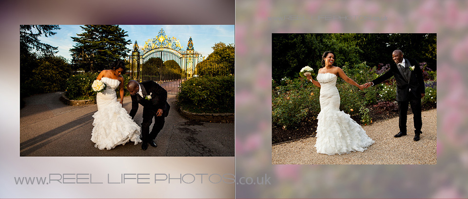 wedding pictures in Regent's Park in London