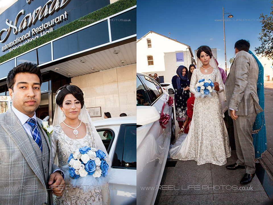 Indian wedding photography of Pakistani bride and groom in Manchester