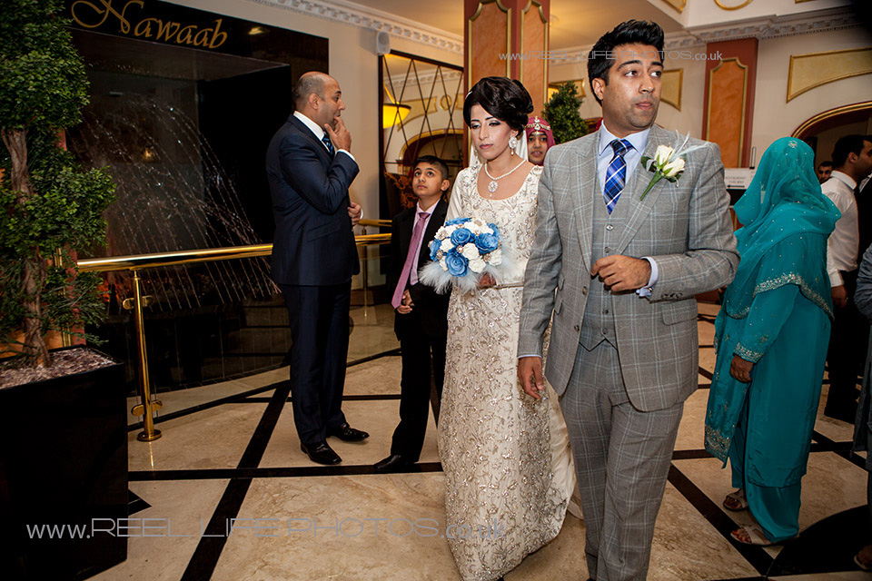 Natural Asian wedding pictures at Nawaab's in Manchester