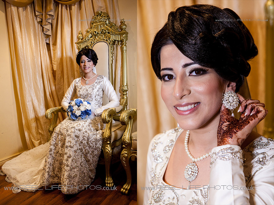 Asian wedding pictures of bride at Nawaab's