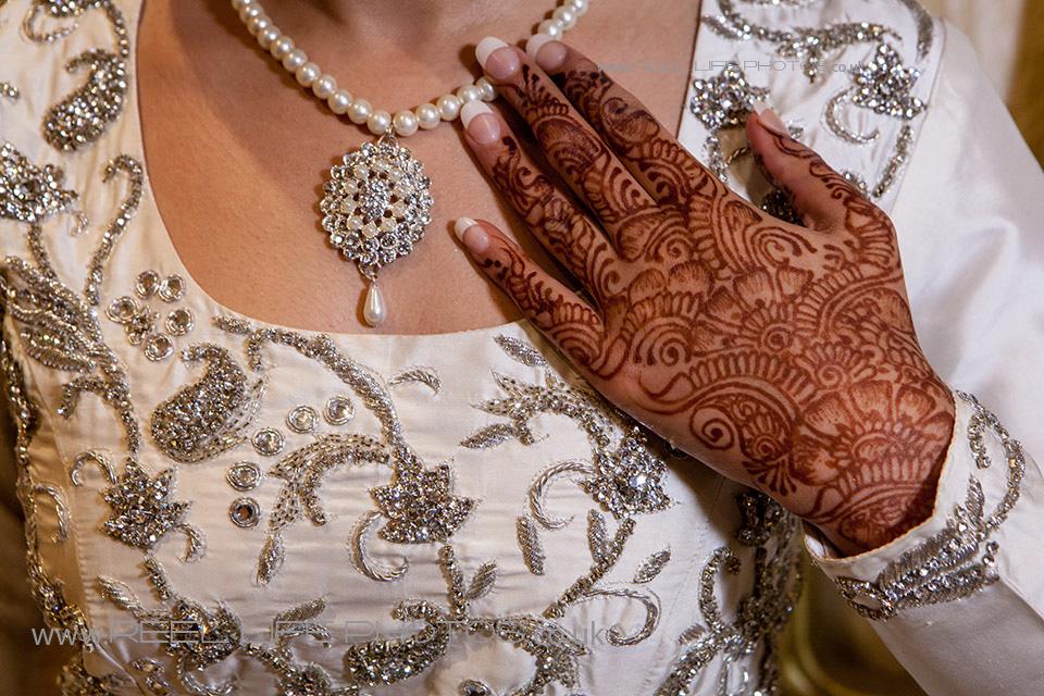 Elegant Asian wedding photography with modern bride.