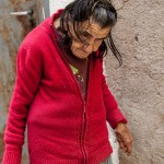 Greek old lady in the old part of Chios Town