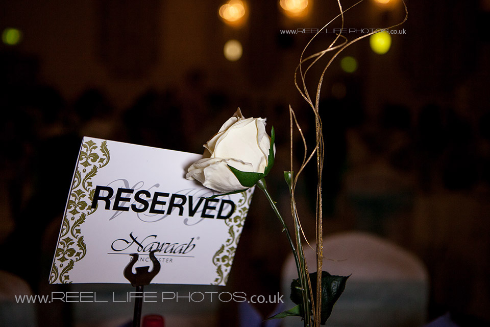 Table decorations for Asian wedding