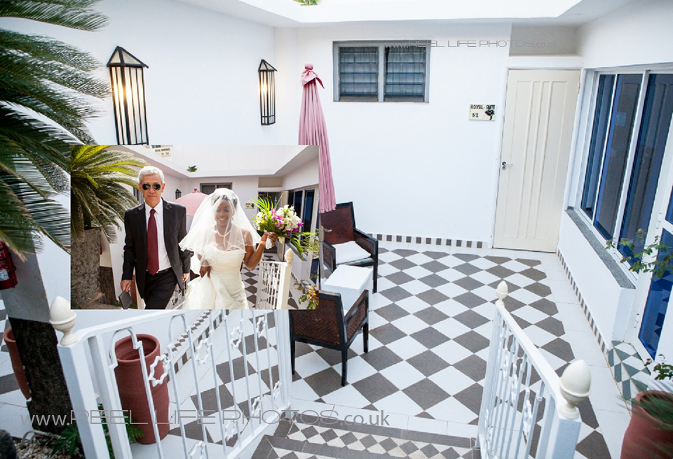 The Royal Suite at Coco Ocean on wedding day