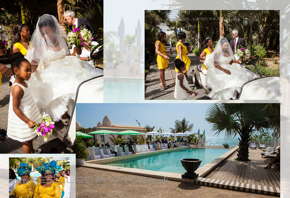 wedding by the sea in an exotic hotel abroad at Coco Ocean wedding venue in The Gambia