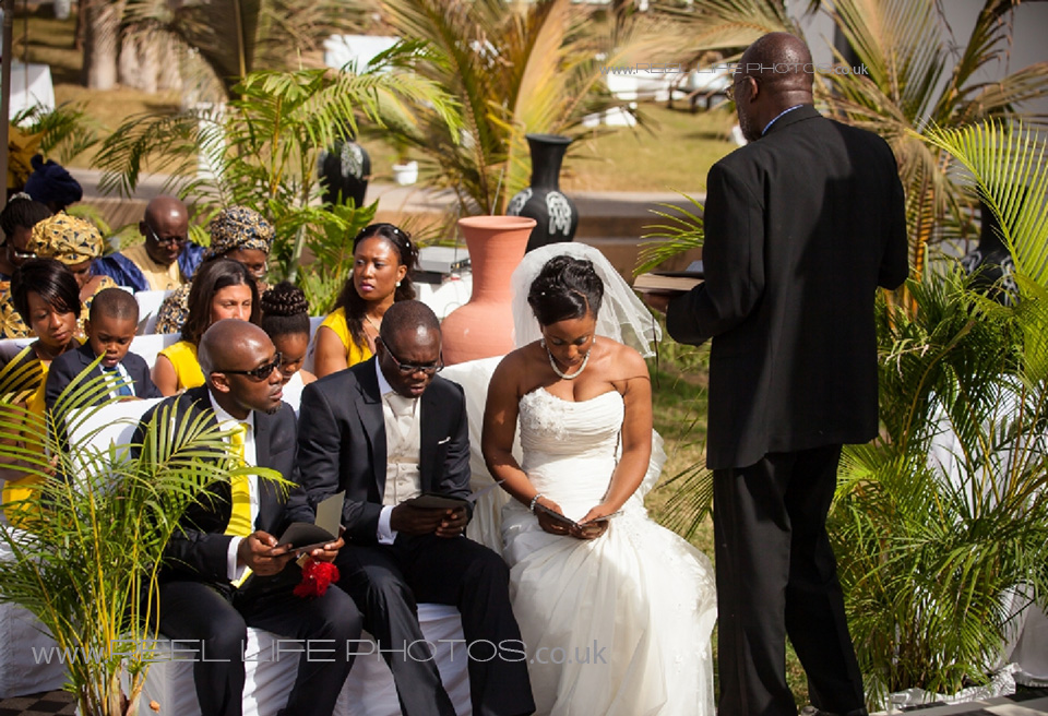 church wedding in the Gambia but at Coco Ocean Hotel