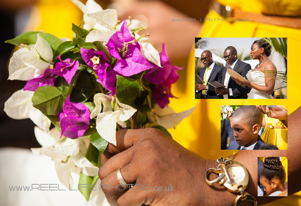 wedding bouquet of bougainvillea at Coco Ocean in Gambia