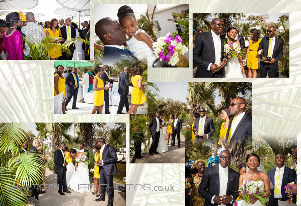 Happy wedding photography in the Gambia at Coco Ocean
