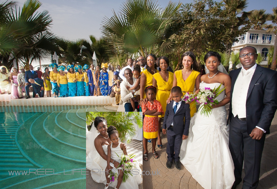 wedding pictures by the pool at Coco Ocean