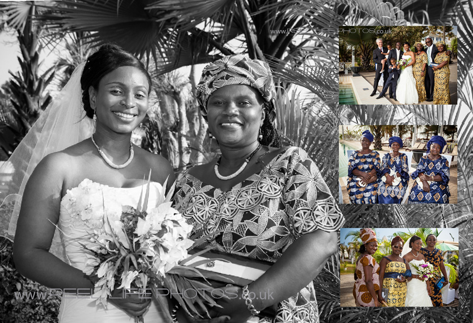 Sierra Leone bride and groom and their family wedding pictures in the Gambia