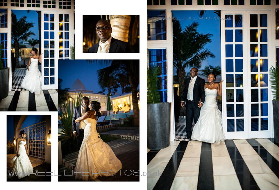 evening wedding pictures at night in the Gambia