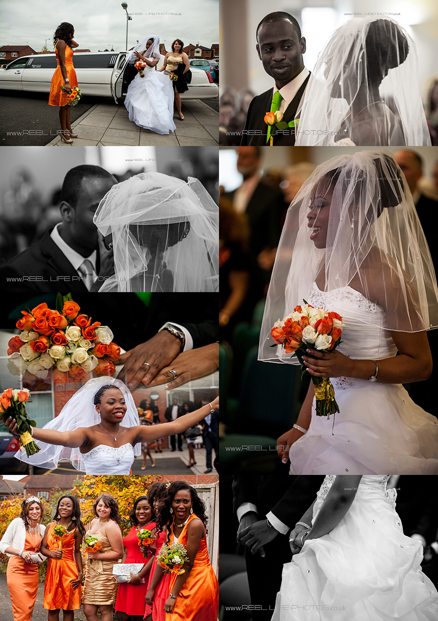 colourful Nigerian church wedding pictures