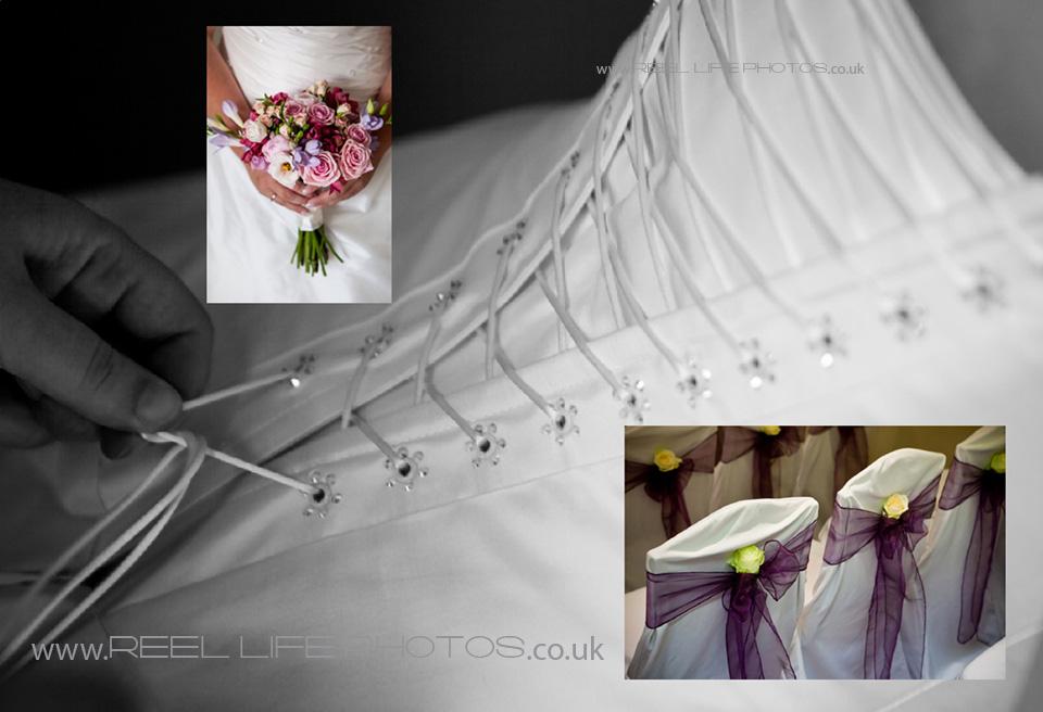 Wedding flowers in storybook album