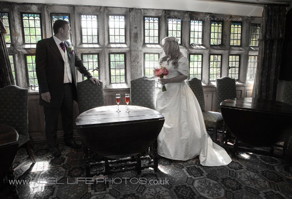 wedding picture inside Holdsworth House in Halifax