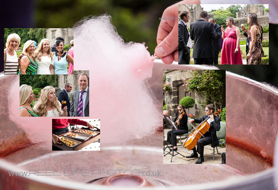 candyfloss, live music and icecreams in storybook weddding album