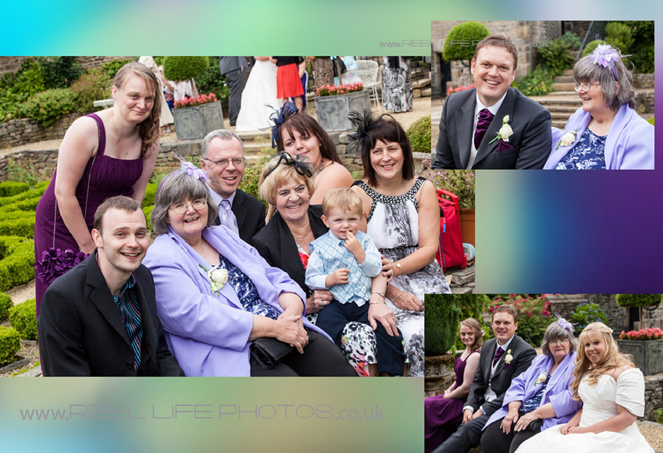 relaxed family wedding pictures