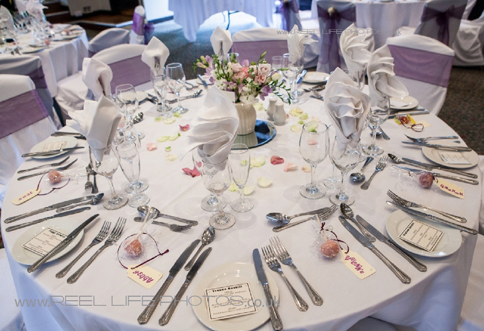 table layout at Holdsworth House wedding