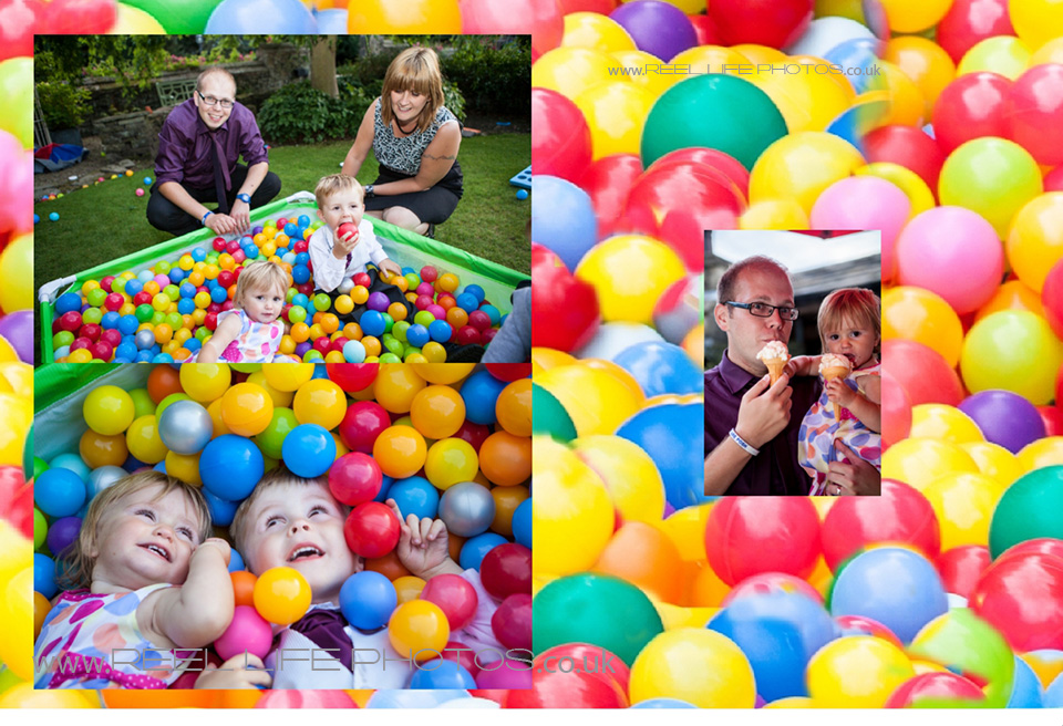 fun with a ballpool at Holdsworth House wedding