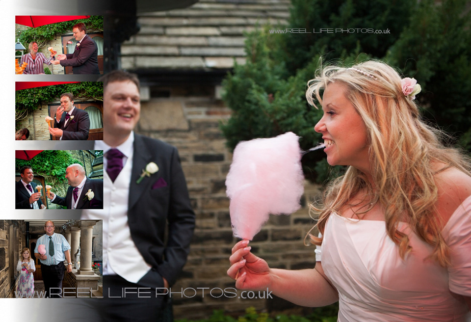 candyfloss fun wedding pictures