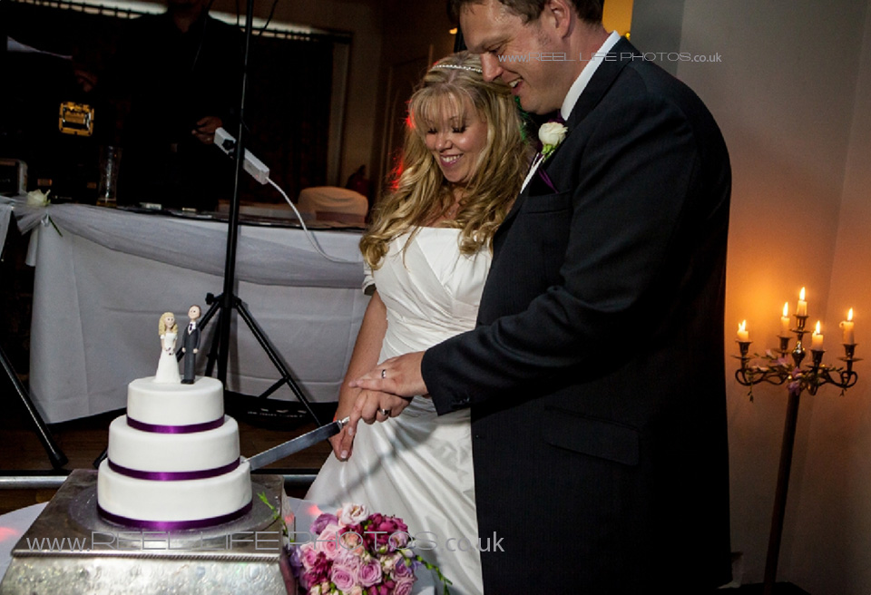 storybook pages 76-77 - cutting the wedding cake