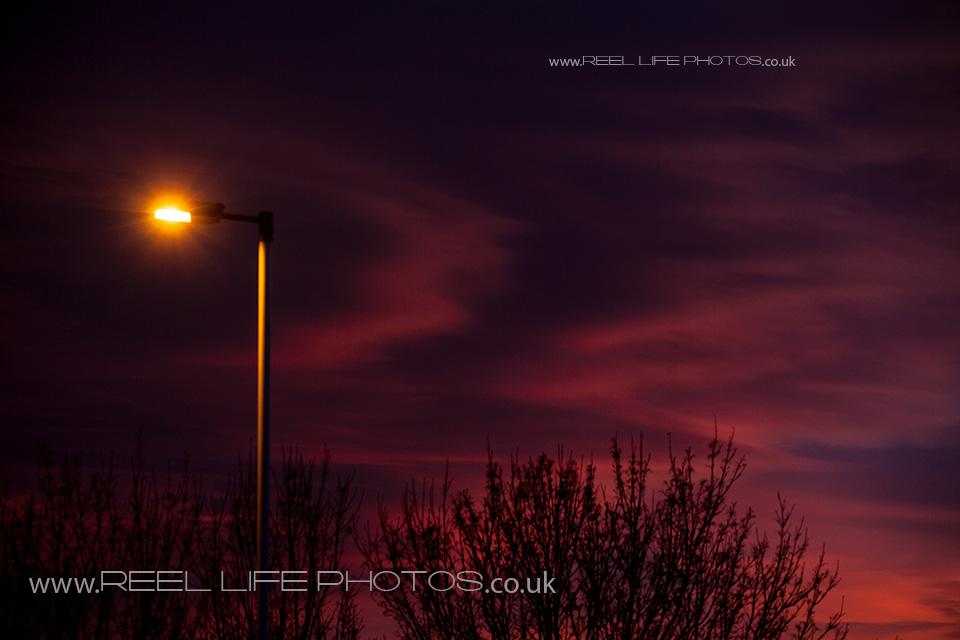 night sky before Huddersfield Festival of Light 2013